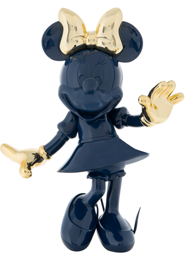Minnie Welcome Glossy Blue & Chromed Gold by Leblon Delienne - Limited Edition Sculpture
